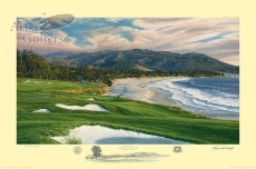 Pebble Beach 9th hole - 2010 U.S. Open Official Limited Edition Print