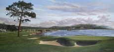 Pebble Beach - Panorama from the 18th Green