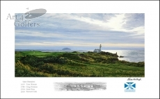 Turnberry 9th hole  'Bruce's Castle'� - Signed Open Edition