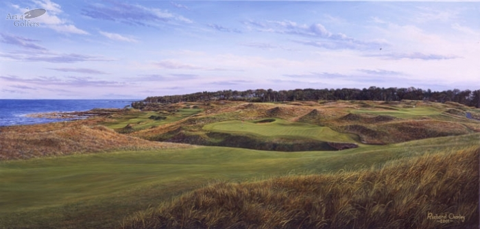 Kingsbarns - Panorama towards 18th Green