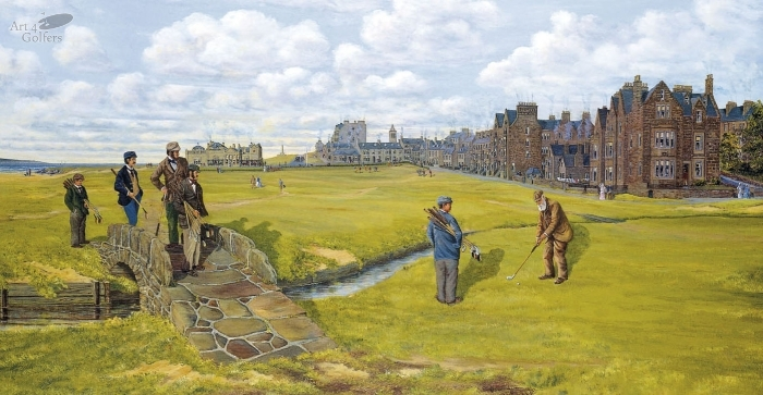 St Andrews - Old Tom Morris - CANVAS LIMITED EDITION