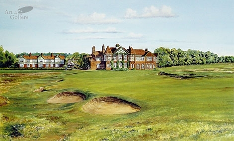 Royal Lytham & St. Annes - 18th Green & Clubhouse