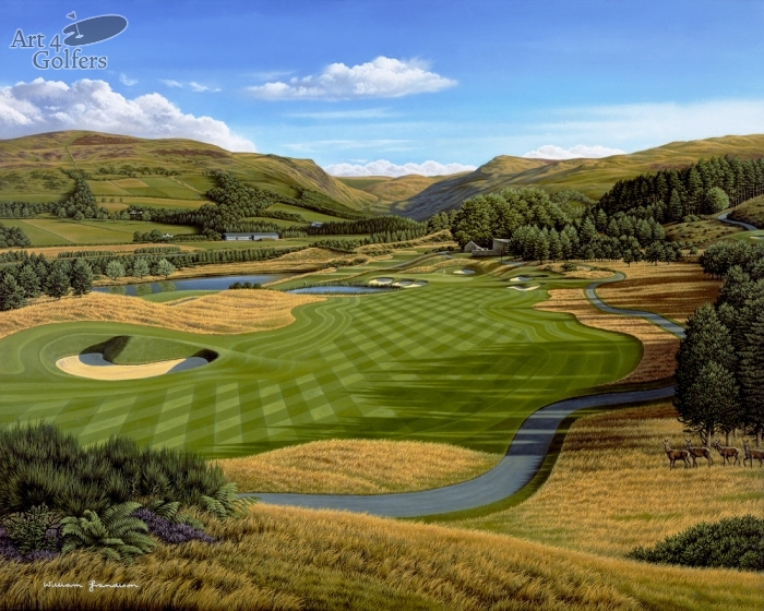 "Gleneagles – PGA Centenary Course – 2nd hole ""Wester Greenwells�"