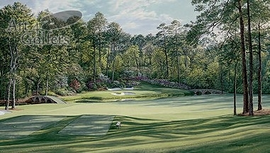 Augusta 12th Hole - 'Golden Bell' - CANVAS LIMITED EDITION