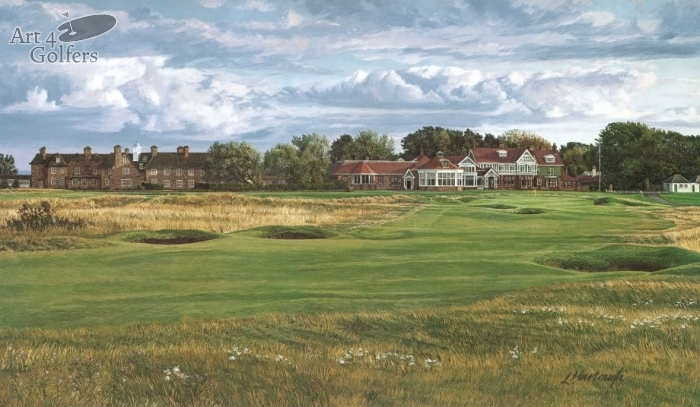 Muirfield 18th Hole & Clubhouse Premier Canvas Edition