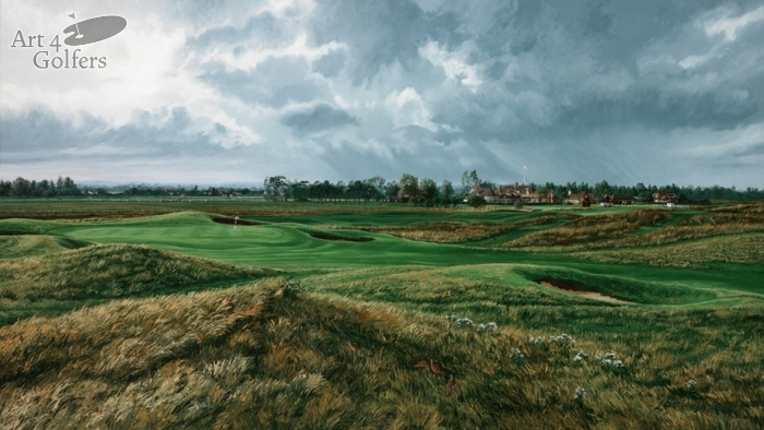 Royal St George's 17th Hole & Clubhouse Premier Canvas Edition