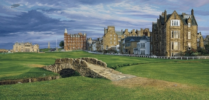 St Andrews - The Swilcan Bridge - CANVAS LIMITED EDITION