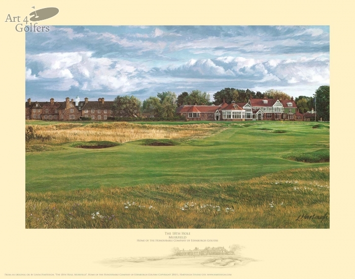 Muirfield 18th hole & Clubhouse