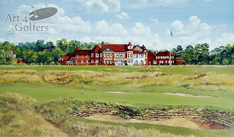 Royal Liverpool Golf Club - 16th Green & Clubhouse