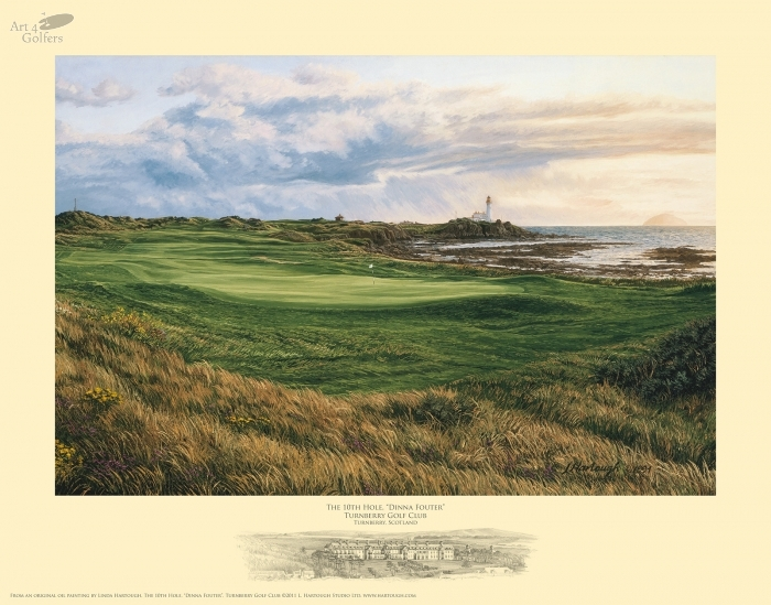 Turnberry 10th hole 'Dinna Fouter'�